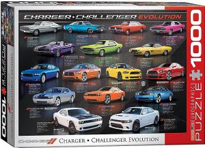 Dodge Charger / Challenger Evolution 1000 piece jigsaw puzzle  680mm x 490mm (pz)